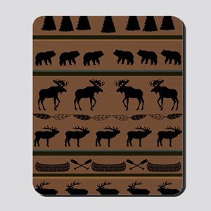 Deep Tan Cabin Blanket Mousepad